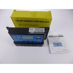 Controlador Solar 30A Dual Usb 5v Control Voltaje Batería