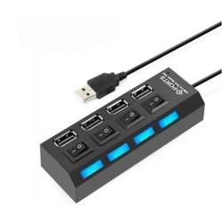 Multipuerto USB 4 puertos con interruptor individual