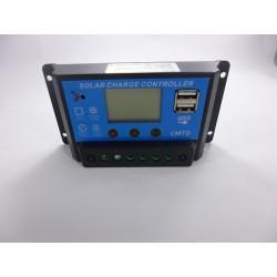 Controlador de carga 12V 24V 20A doble USB