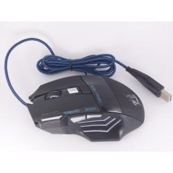 Mouse Gamer 7 Botones Dpi 3200, Con Boton Doble Clic