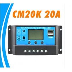 controlador solar 20a dual Usb 5v control voltaje batería