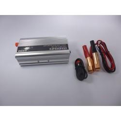 Inversor 1200w Convierte Batería De Carro 12v A 110v