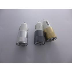 Cargador Usb Para Coche Aluminio Dos Puertos 12 V 2.1a Y 1a